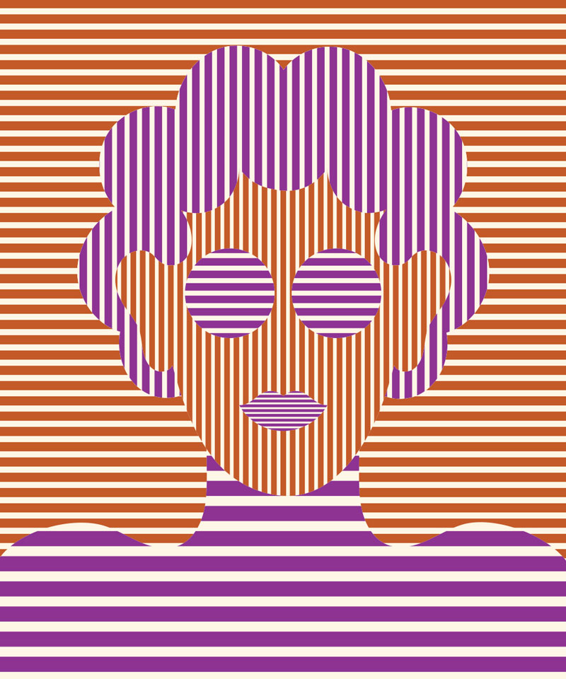 Olimpia Zagnoli, Him, 2019, limited edition of 8 giclee prints on Somerset Velvet,  60×50 cm