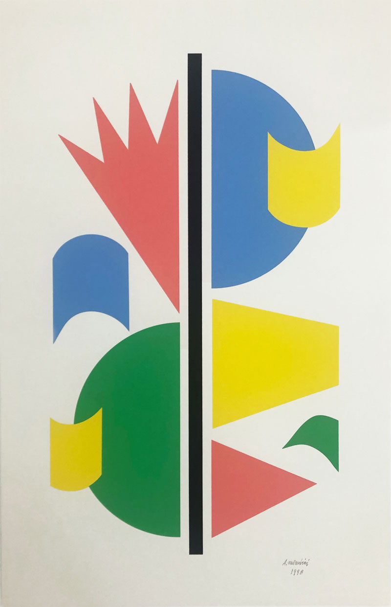 Alessandro Mendini, Oriented, 1999, serigrafia su carta, 69×45 cm