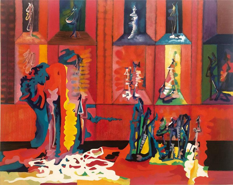 Marco Cingolani, Ho in mente te, 2014, olio su tela, 80×100 cm