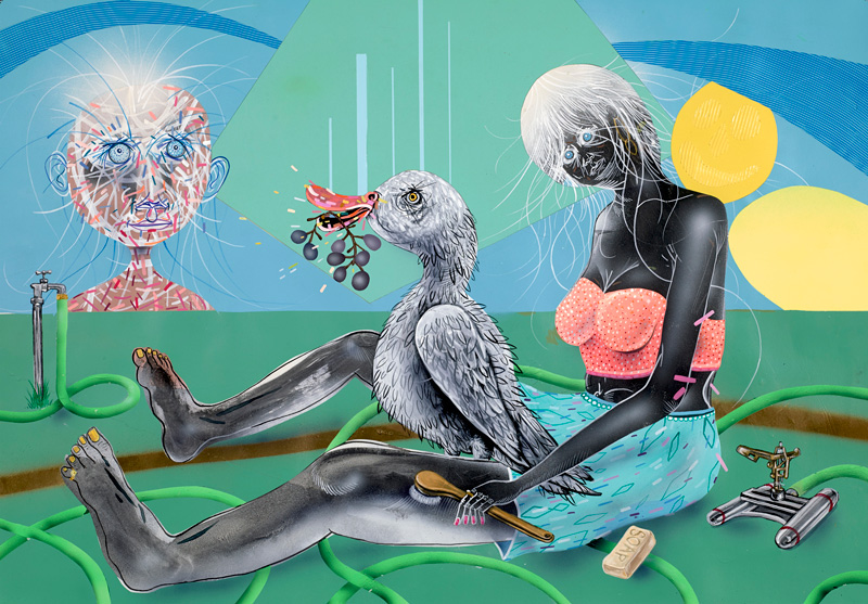 Clayton Brothers, Time To Come Clean, 2013, Mixed Media On Paper, 84x58 Cm