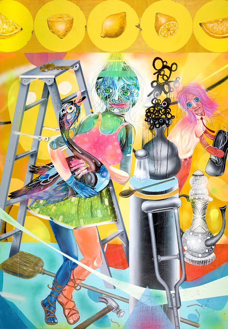 Clayton Brothers, Time Will Only Tell, 2013, Mixed Media On Canvas, 127x183 Cm
