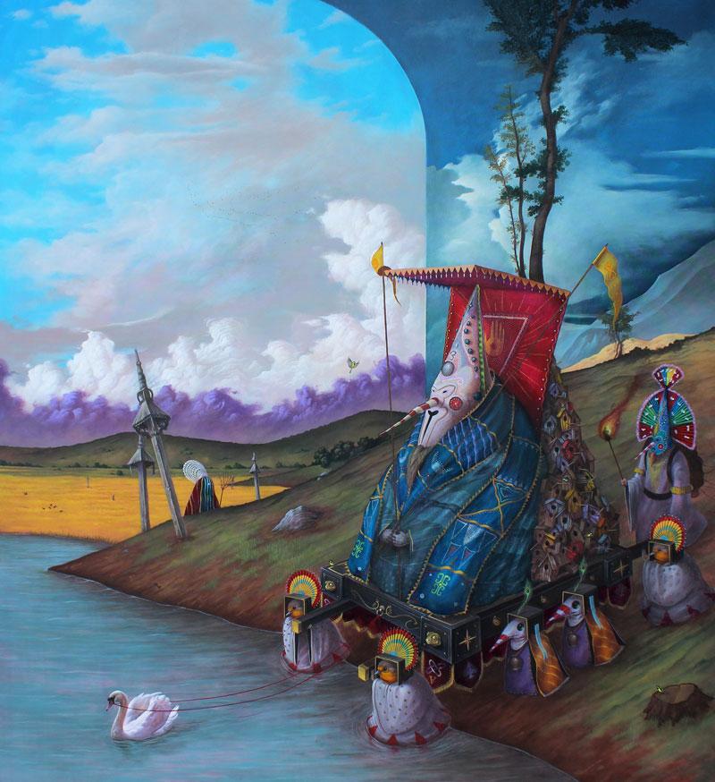 El Gato Chimney, Le Altre Stagioni, 2013, Acrylic On Canvas, 100x110 Cm