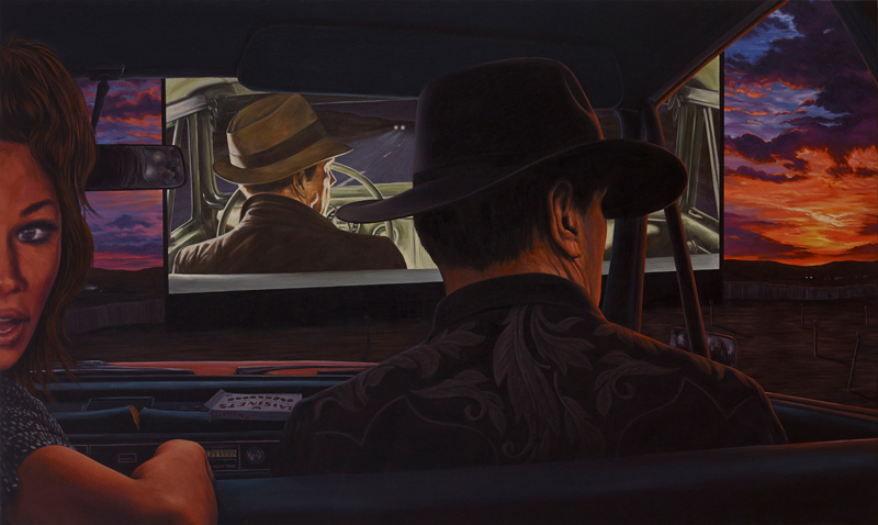 Eric White, Dead Reckoning, 2014, oil on canvas, 91.4cmx152.4 cm