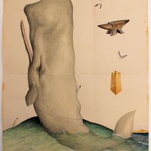 El Gato Chimney, Capidoglio, 2014, Watercolors On Cotton Paper, 100x140 Cm