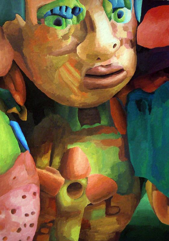 Marta Sesana, Fiore, 2013, Tempera On Paper, 42x31 Cm