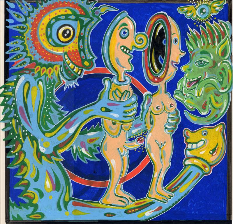 Matteo Guarnaccia, Concavo Convesso, 2006, Mixed Media On Paper, 28×35 Cm