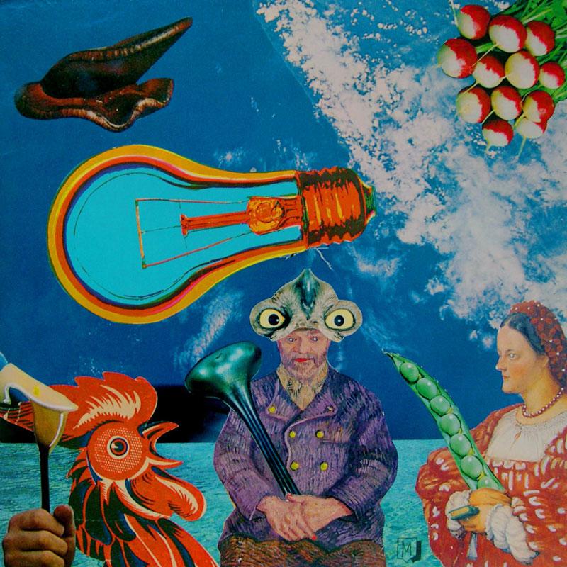 Matteo Guarnaccia, Senza titolo, mixed media and collage, 32x32 cm