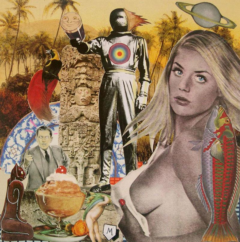 Matteo Guarnaccia, Technicolor Dream # 11, 1998, mixed media and collage, 29,5 x 29,5 cm