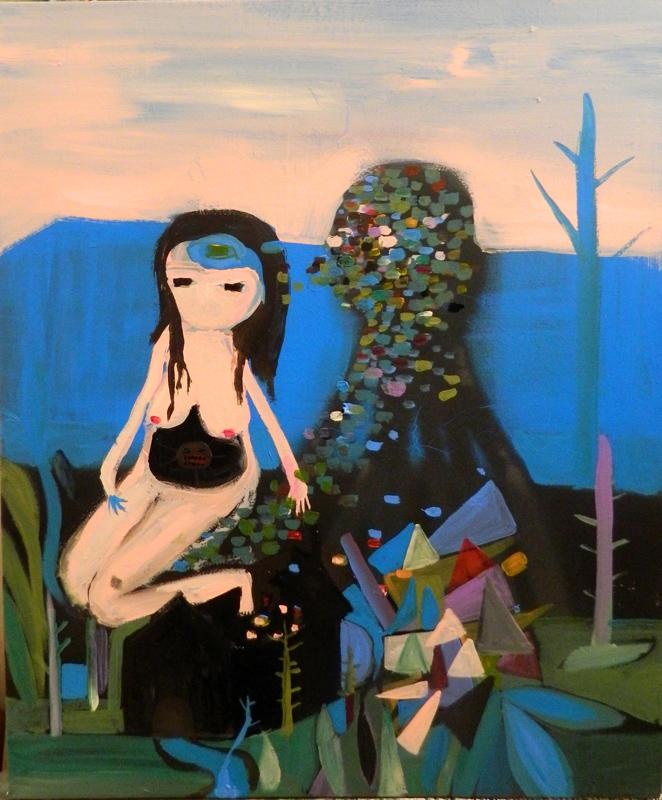Silvia Argiolas, La nostra idea di pace, 2014, mixed media on canvas, 50x60 cm