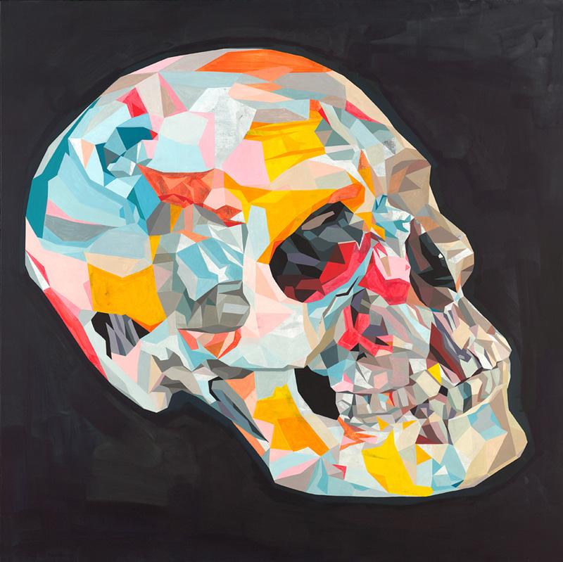Tim Biskup, Doom Loop # 22, 2012, Graphite And Cel Vinyl On Canvas, 122 X 122 Cm