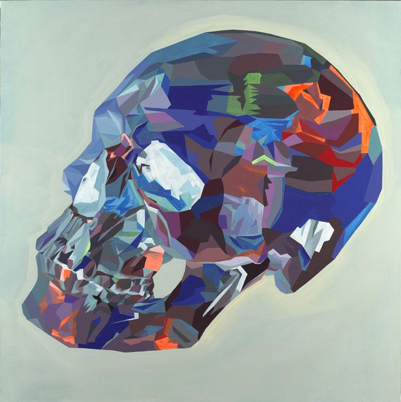 Tim Biskup, Doom Loop # 23, 2012, graphite and cel vinyl on canvas, 122x122 cm