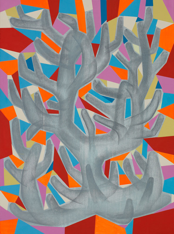 Tim Biskup, Memory Crystal, 2012, acrylic on paper, 30,8 x 23 cm