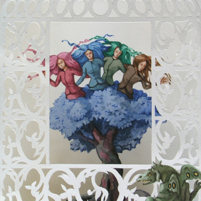Vanni Cuoghi, Verdiglie, 2013, Watercolor On Paper, 33x22 Cm