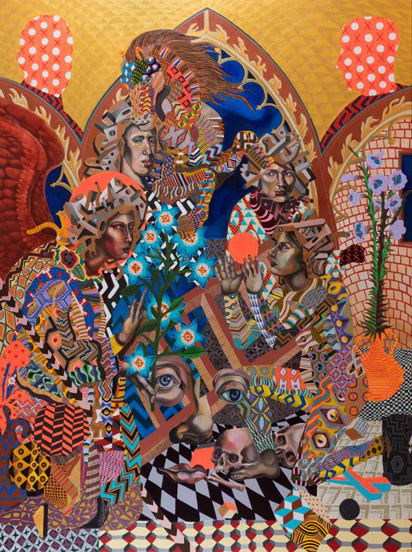 Zio Ziegler, A Priori A Posteriori, 2014, Mixed Media On Canvas, 243,8 X 182,9 Cm