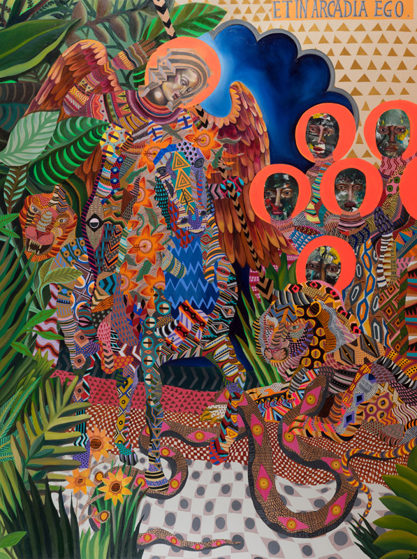 Zio Ziegler, Et In Arcadia Ego, 2014, Mixed Media On Canvas, 182,9 X 243,8 Cm