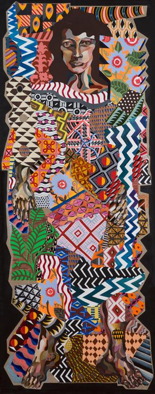 Zio Ziegler, Portrait Of Her, 2014, Mixed Media On Canvas, 91,4 X 228,6 Cm