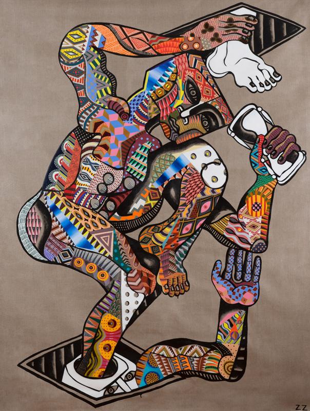 Zio Ziegler, The Assent, 2014, Mixed Media On Canvas, 152,4 X 213,4 Cm