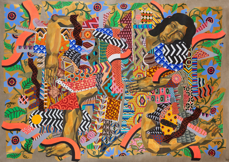Zio Ziegler, The Chains Of Not Choosing, 2014, Mixed Media On Canvas, 150 X 212 Cm