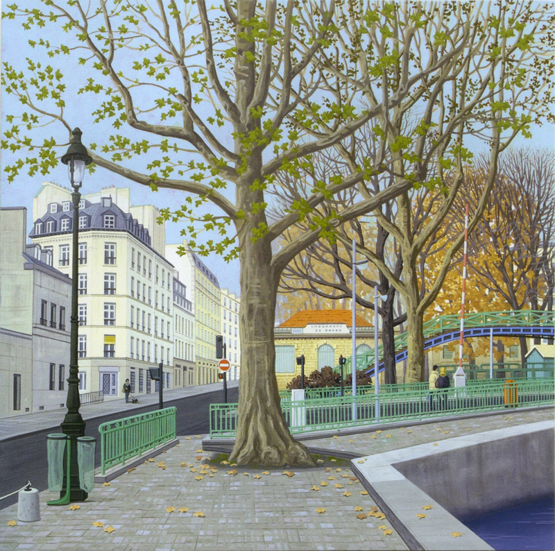 Aldo Damioli, A Parigi, 2012, Acrylic On Canvas, 70x70 Cm