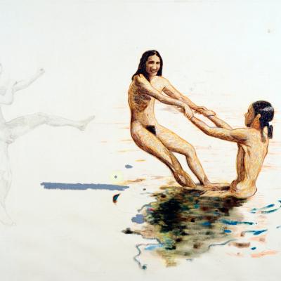 FKK...Freikorperkultur O Del Nudismo, 2009, Olio Su Tela, 180x230 Cm