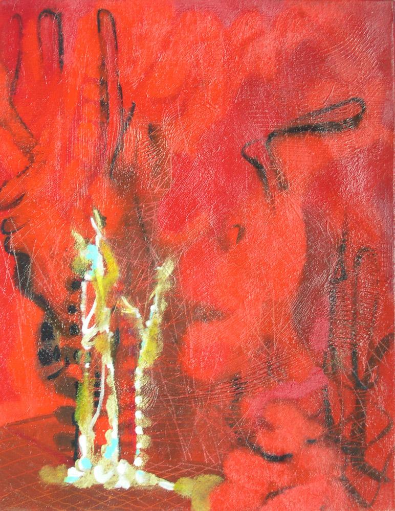 Marco Cingolani, Gli Etruschi, 2012, oil on canvas, 45x35 cm