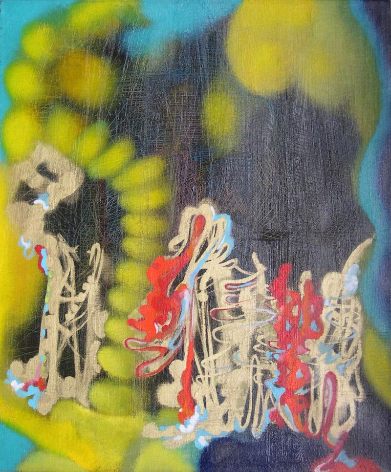 Marco Cingolani, Gli Etruschi, 2012, oil on canvas, 60x50 cm