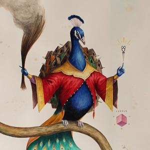 El Gato Chimney, Senza Titolo, 2014, watercolors on cotton paper, 71×50 cm