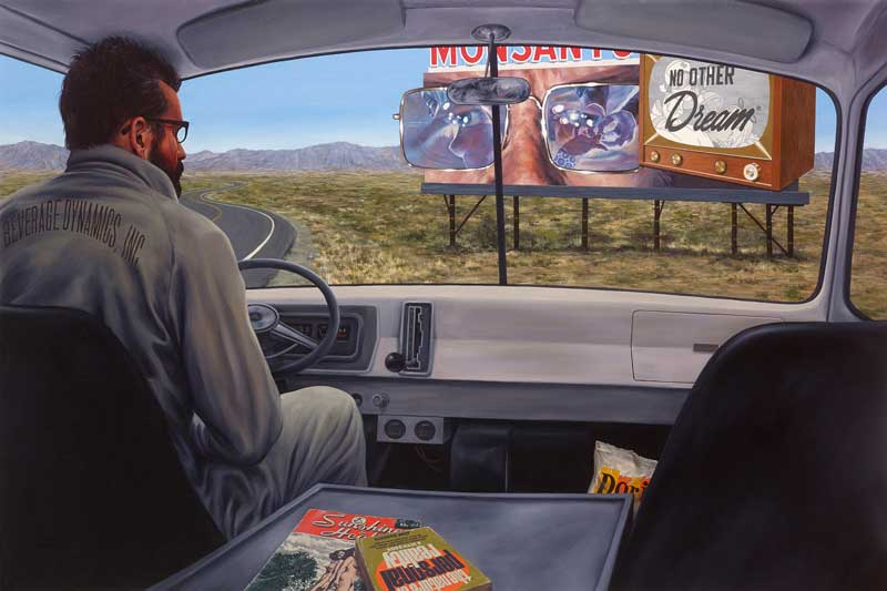 Eric White, Down in Front, No Other Dream, 2014, oil on canvas, 102x152 cm