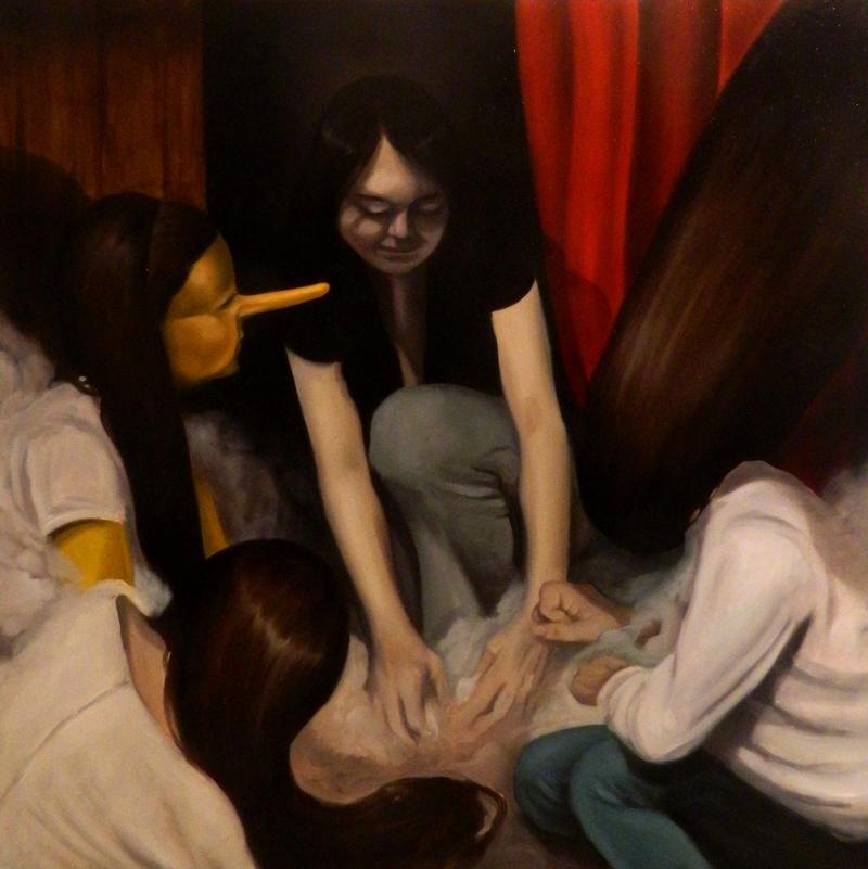 Giuliano Sale, Mother Superior, 2013, Olio Su Tela, 80×80 Cm
