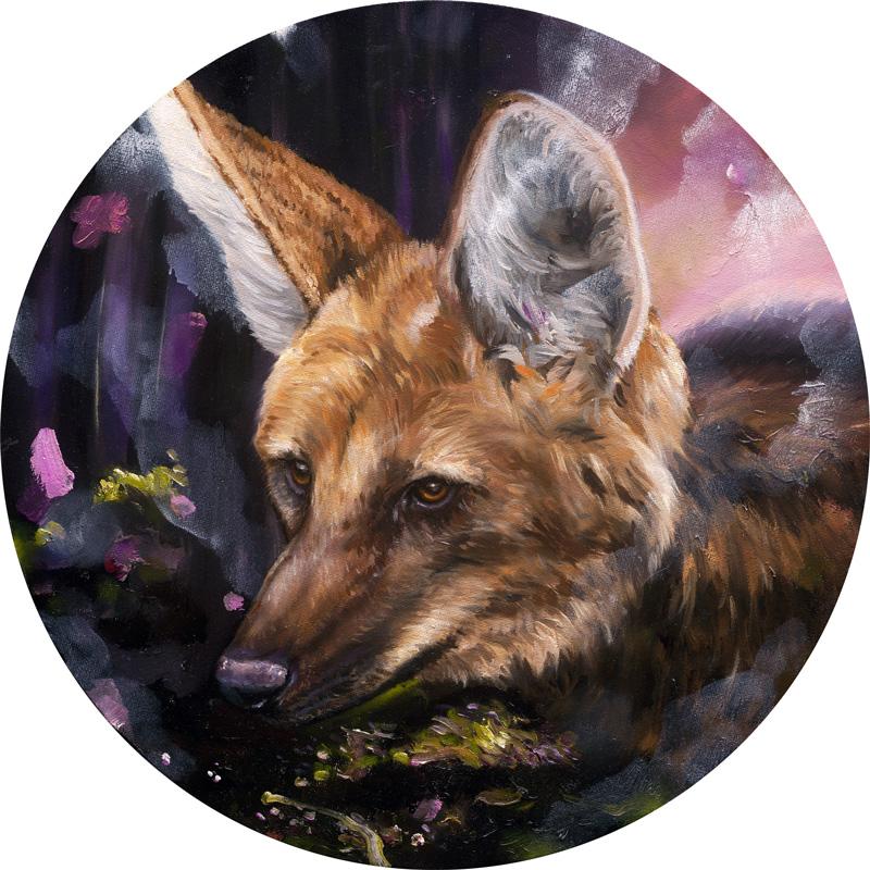 Heiko Müller, Wolf, 2013, Oil On Canvas, 40cm