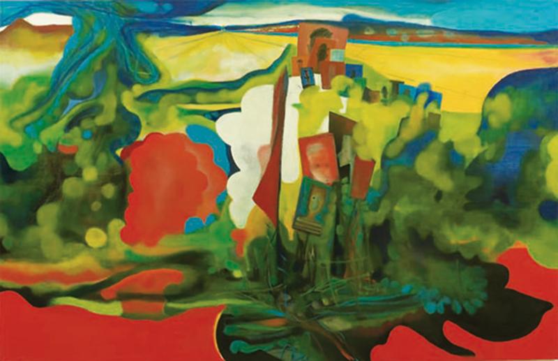 Marco Cingolani, A perdita d'occhio (Vacanze Americane), 2011, oil on canvas, 200x300 cm
