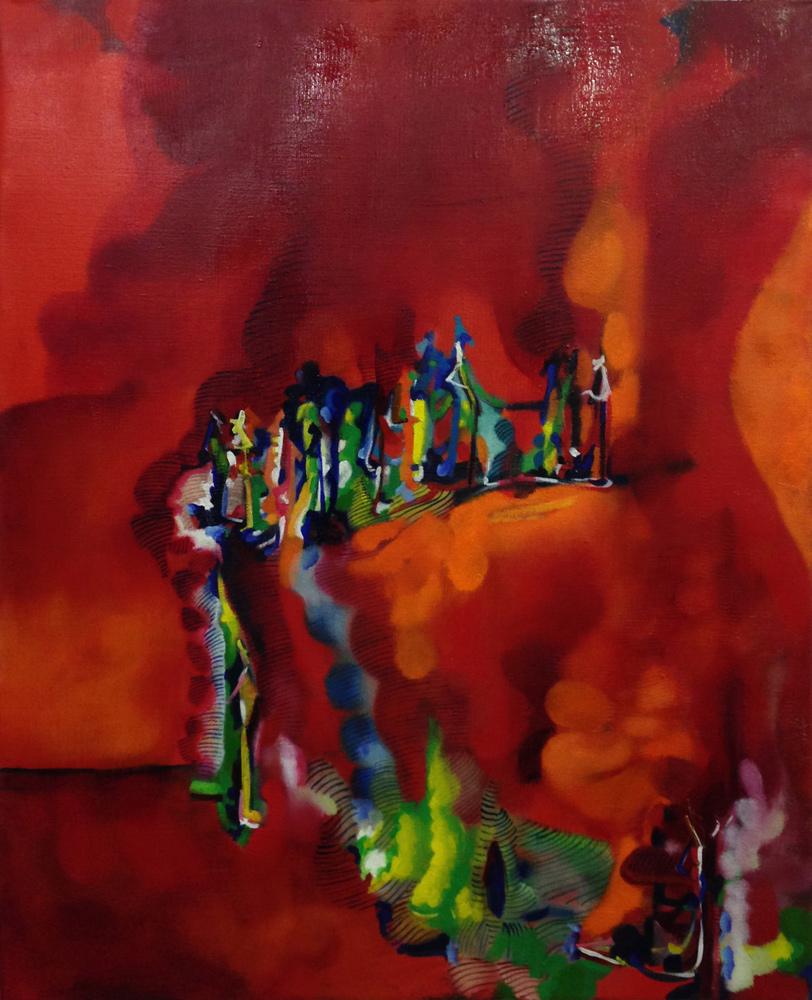 Marco Cingolani, Di Che Paese Siete, 2005-2013, oil on canvas, 100x80 cm