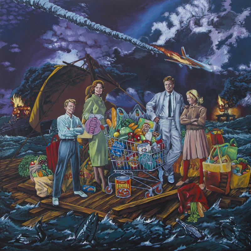 Stefano Zattera, Saldi Di Fine Mondo, 2012, Oil On Canvas, 150x150 Cm