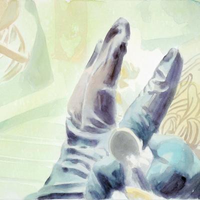 Tatoo, 2007 (60x80) Aquacrylic Su Tela