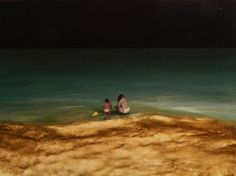 Giuliano Sale, Senza Titolo, 2012, oil on canvas, 30x40 cm