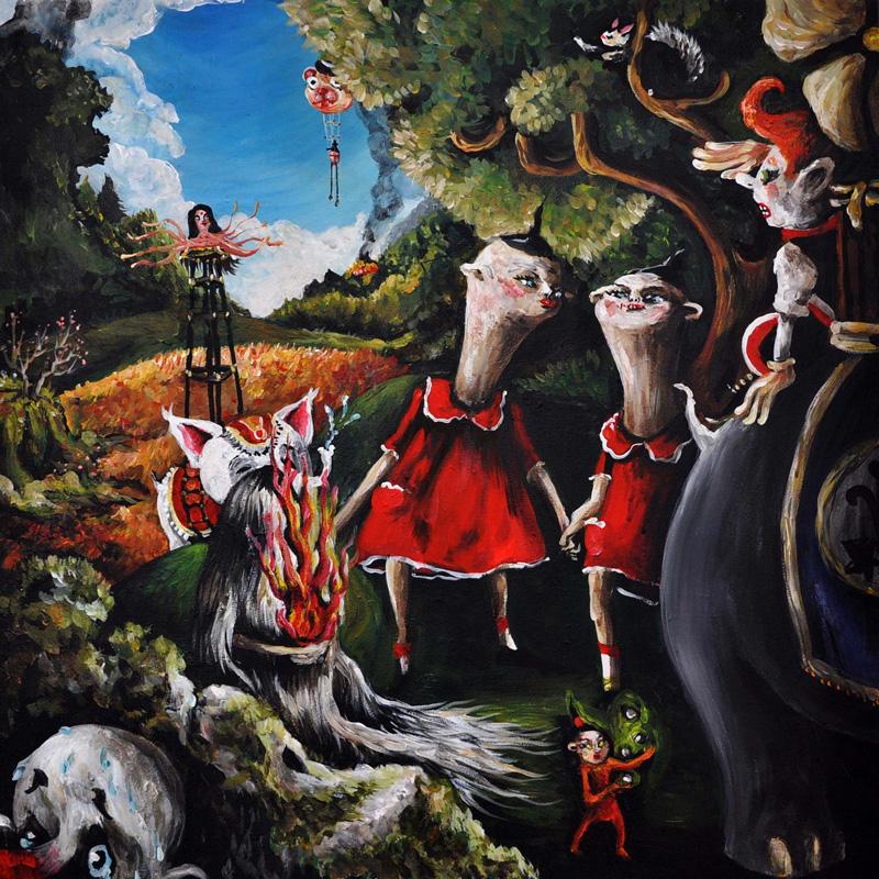 Elena Rapa, Veduta Generale, 2010, Mixed Media On Canvas, 60x60 Cm