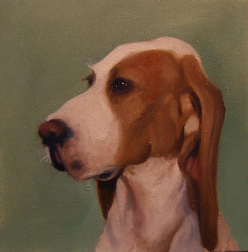 Sale One Dog, 11, Olio Su Tela, Cm 20×20