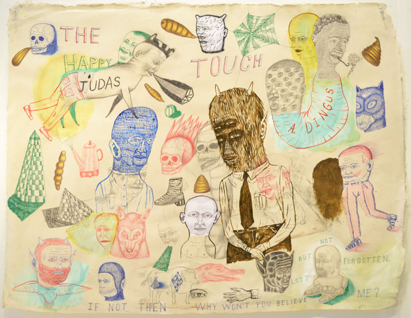 Fred Stonehouse, Judas Touch, 2014, Mixed Media On Paper, 63,5×81 Cm