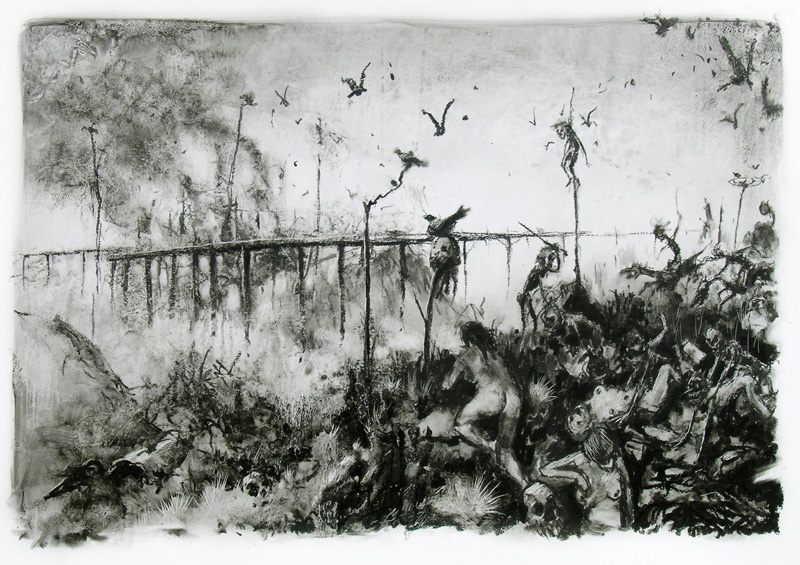 Francesco De Grandi, S.t, 2010, pencil on paper, 70x100 cm