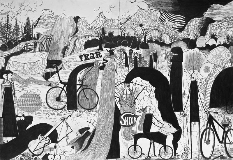 Fausto Gilberti, Rockshock, 2009, penci on paper, 33x48 cm