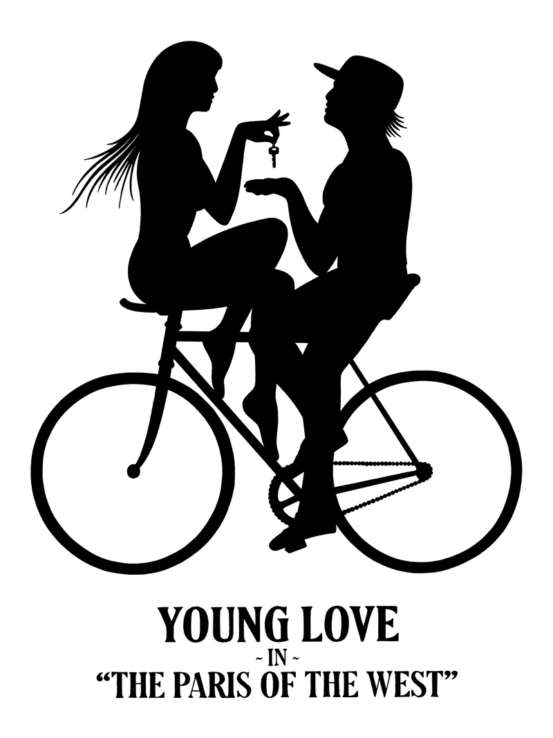 Mike Giant, Young Love, 2010, Ink On Paper, 61x46 Cm