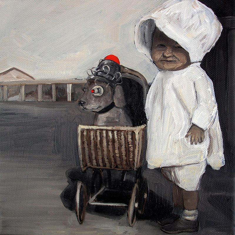 Desiderio, ROCK-10f Y, series #03, 2010, acrylic on canvas, 20x20cm