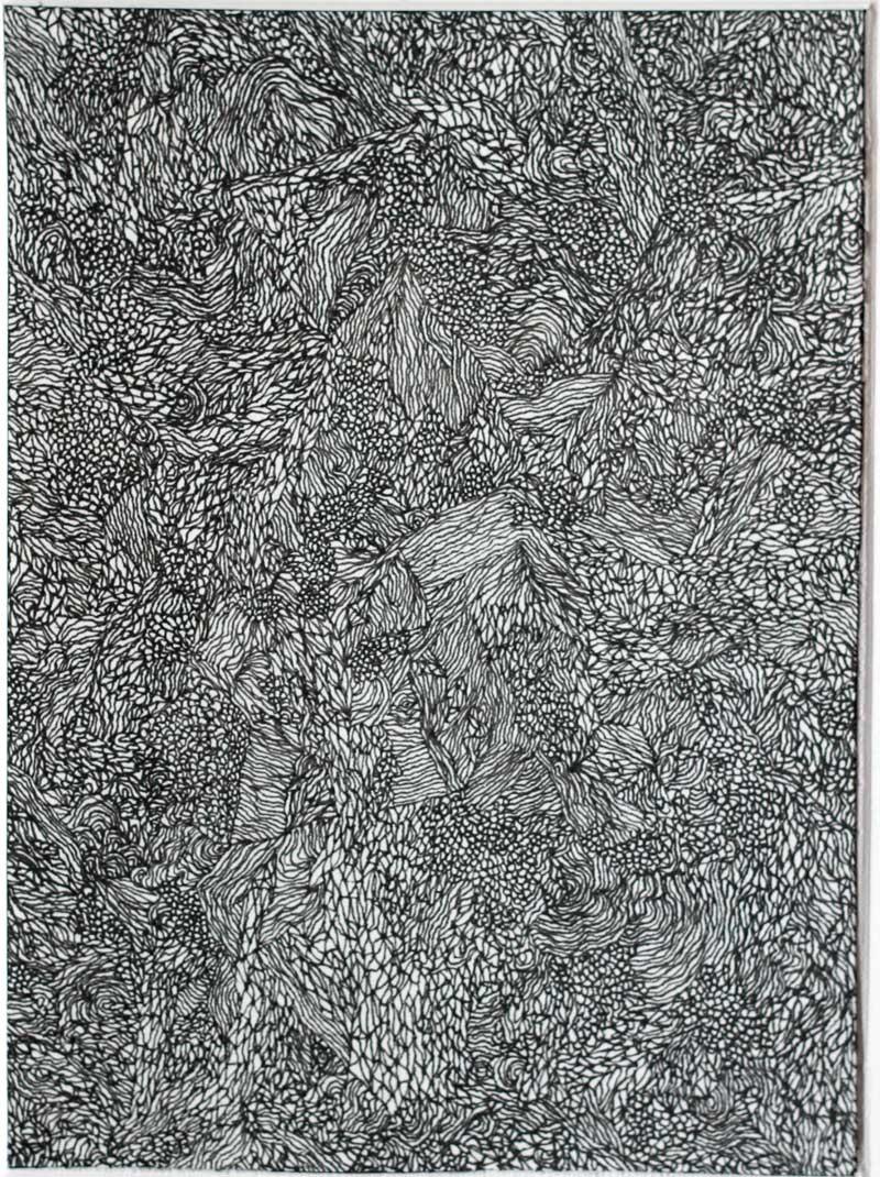 108, PARIGI-MODANE (paesaggio), 2015, Inchiostro Su Carta, 12x16 Cm