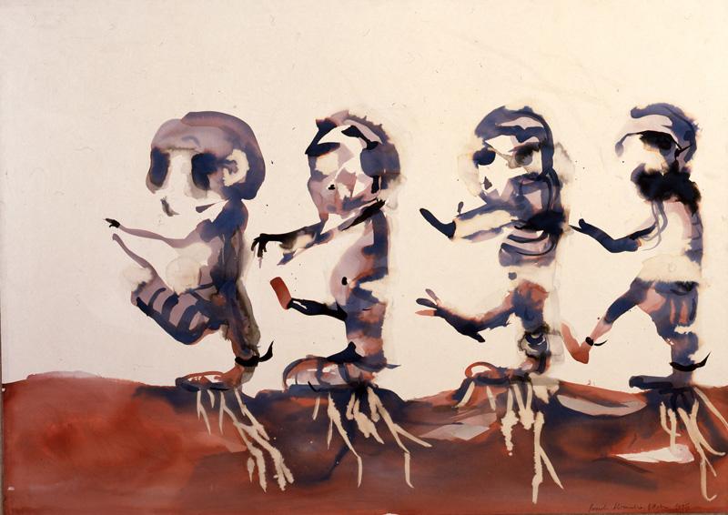 Alessandro Pessoli, Sezione, 1995, acrylic on canvas, 100x140 cm