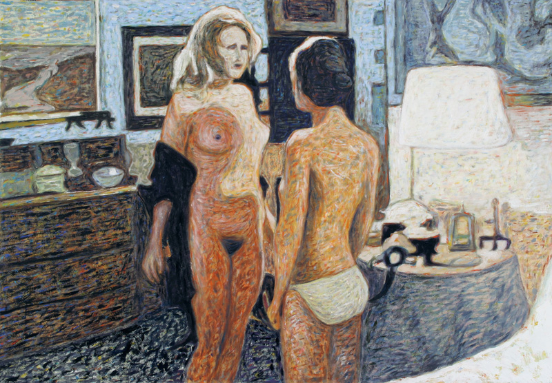 Andrea Salvino, La difesa della razza,-2007, oil on canvas, 100x70 cm