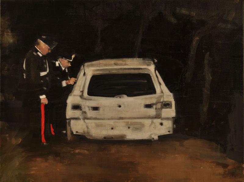 Daniele Galliano, Toc-toc, 2008, oil on canvas, 60x80 cm