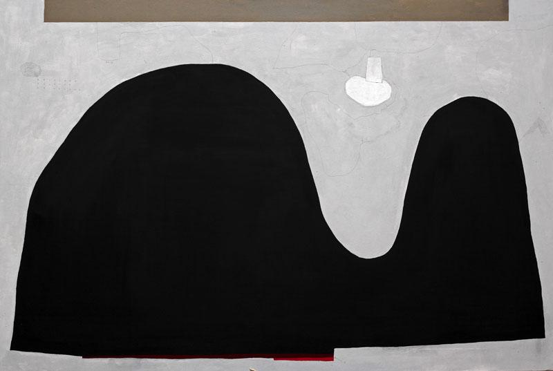 108, La città onirica, 2015, olio su tela, 80×120 cm