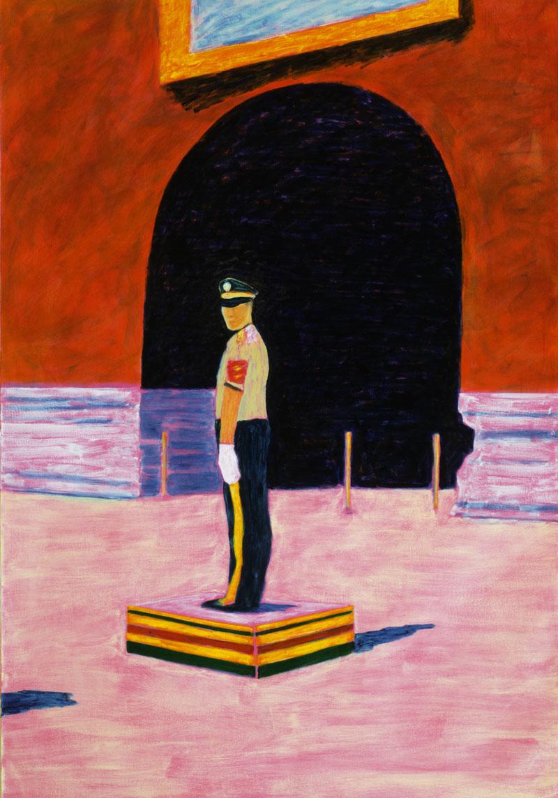 Bruno Pacheco, Enguard-(souvenirs), 2005, Oil On Canvas, 210x145 Cm