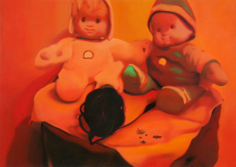 Francesco Lauretta, Le Bambole di Mia Madre, 2007, oil on canvas, cm 50x70