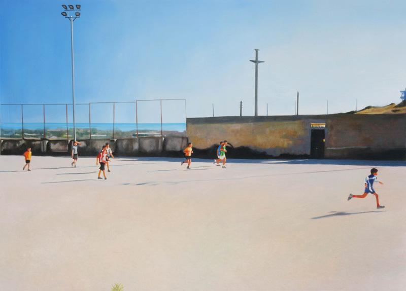 Francesco Lauretta, Il più bel quadro della nostra vita, 2007, oil on canvas, cm 49,5x69